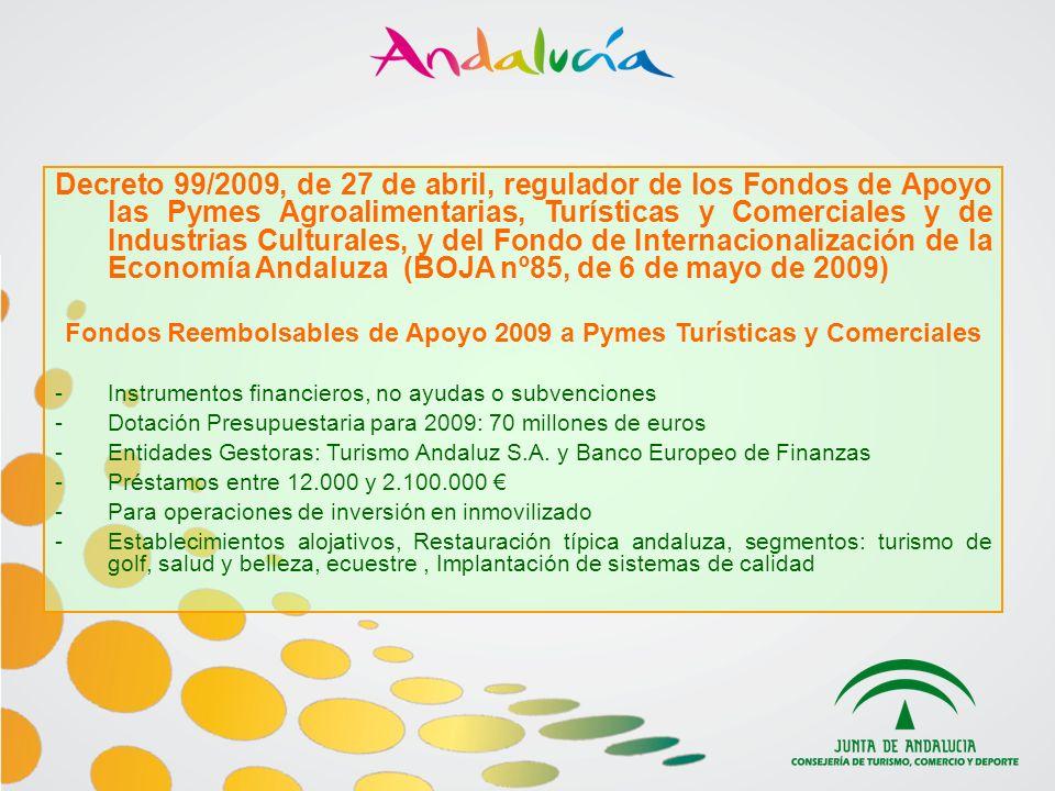 Fondos Reembolsables de Apoyo 2009 a Pymes Turísticas y Comerciales