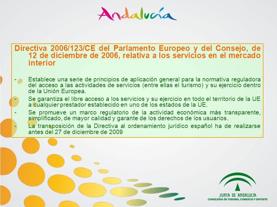 Directiva 2006/123/CE del Parlamento Europeo y del Consejo, de 12 de diciembre de 2006, relativa a los servicios en el mercado interior