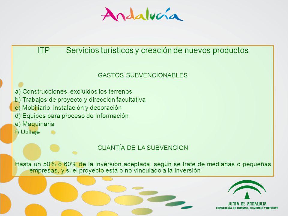 ITP Servicios turísticos y creación de nuevos productos