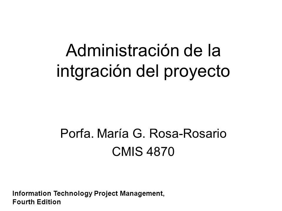 Administración de la intgración del proyecto