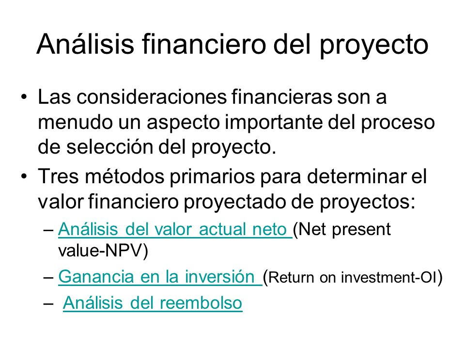 Análisis financiero del proyecto