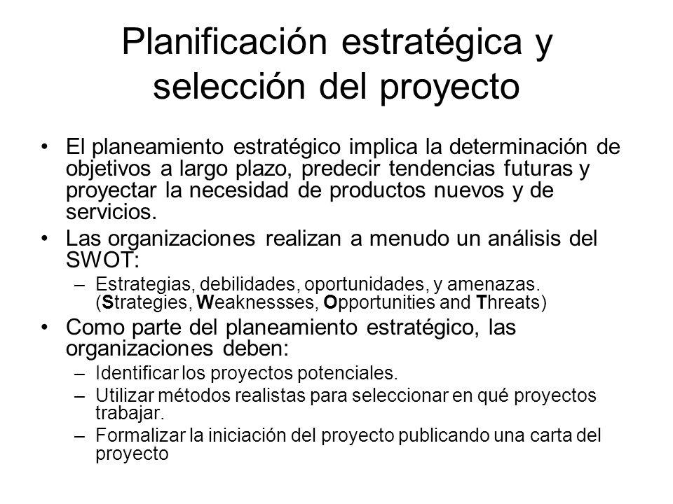 Planificación estratégica y selección del proyecto