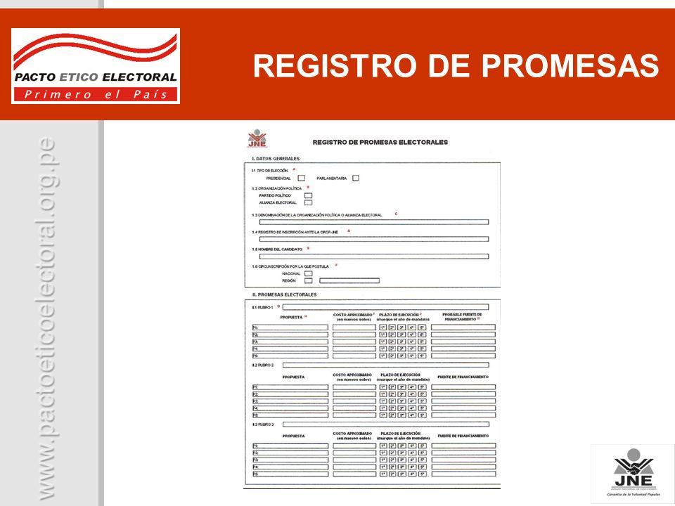 REGISTRO DE PROMESAS