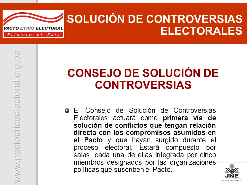 CONSEJO DE SOLUCIÓN DE CONTROVERSIAS