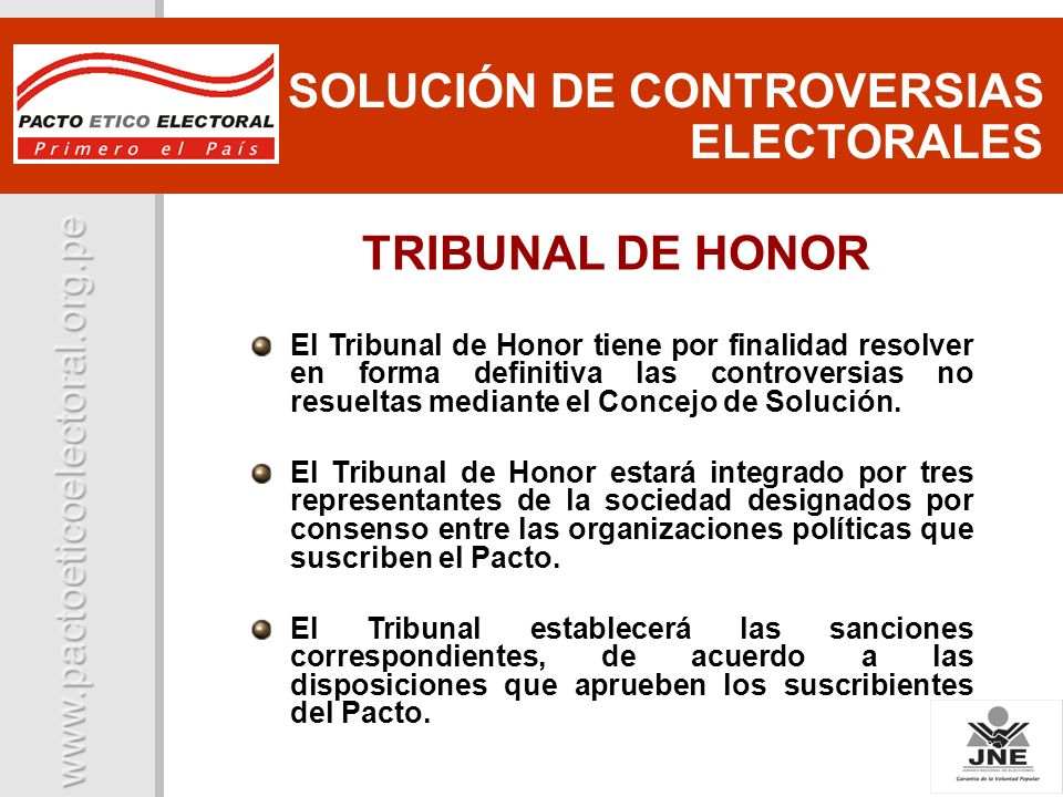 SOLUCIÓN DE CONTROVERSIAS ELECTORALES