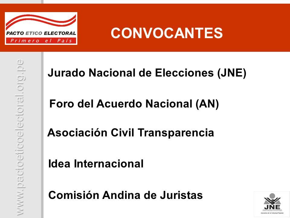CONVOCANTES Jurado Nacional de Elecciones (JNE)