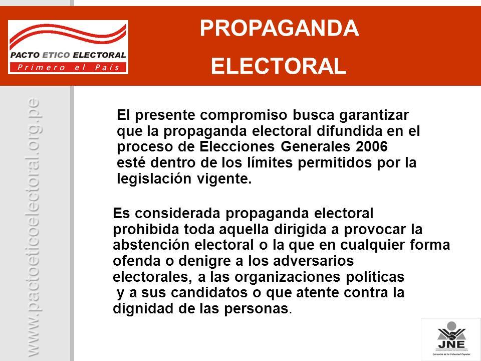 PROPAGANDA ELECTORAL.