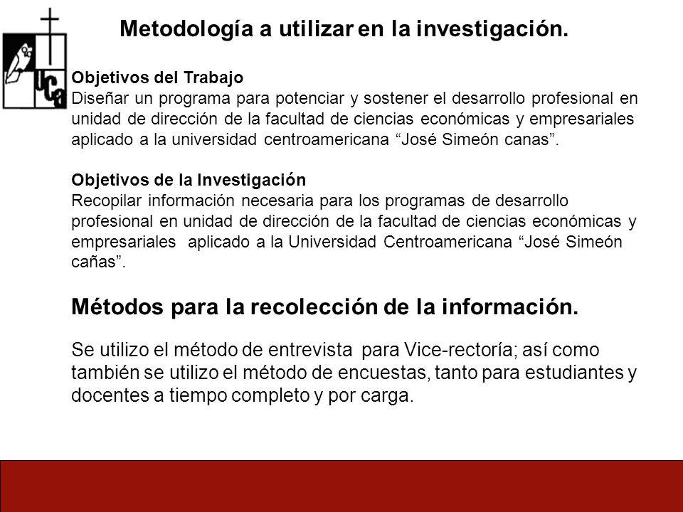 Metodología a utilizar en la investigación.