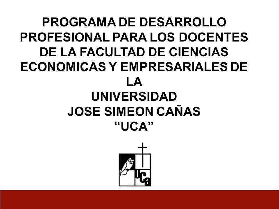 PROGRAMA DE DESARROLLO PROFESIONAL PARA LOS DOCENTES