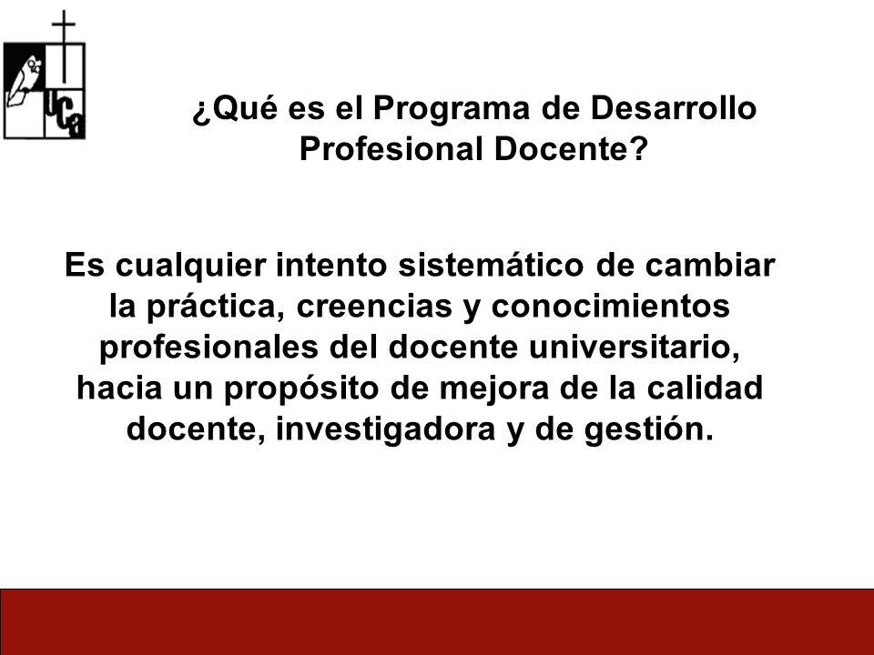 ¿Qué es el Programa de Desarrollo Profesional Docente