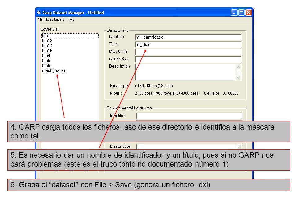 4. GARP carga todos los ficheros