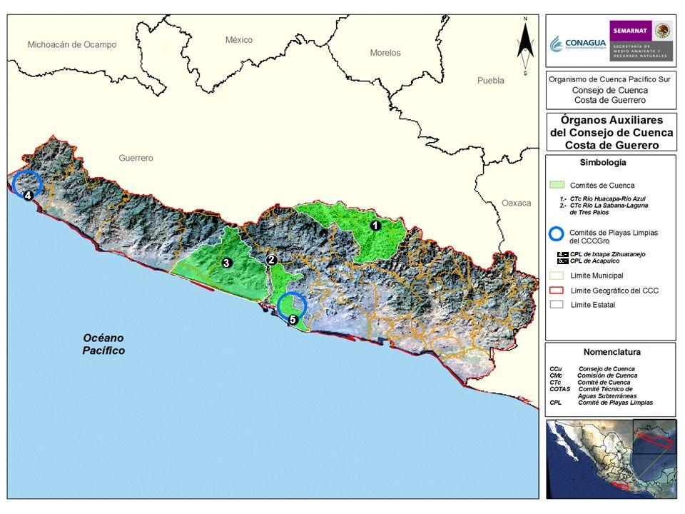 1 5 2 3 4 3.- CTc Laguna Coyuca-Laguna Mitla 4.- 5.-