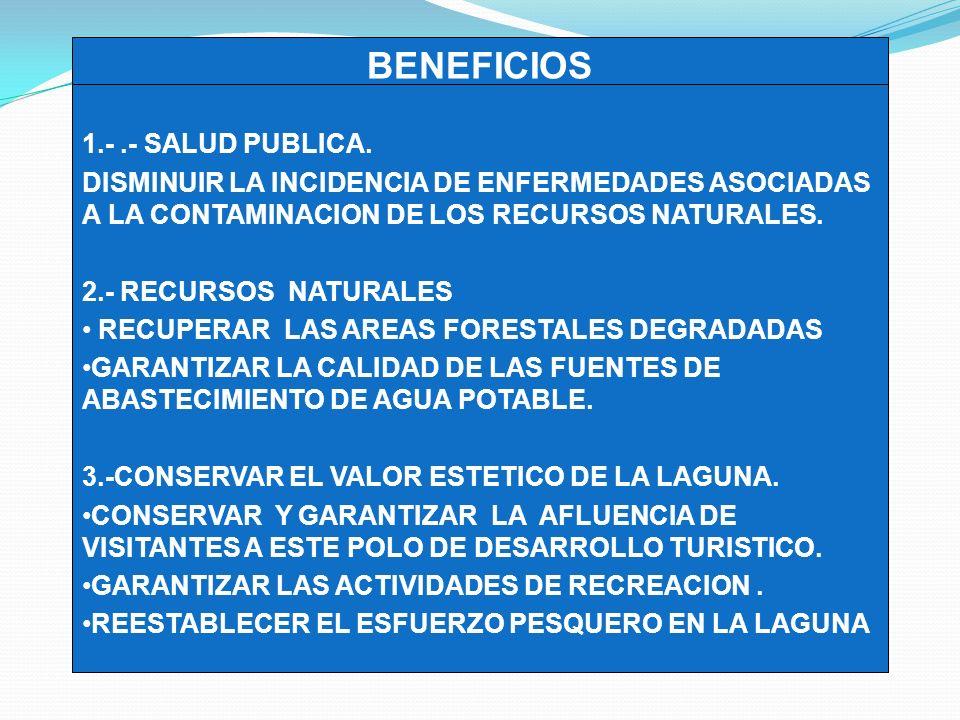 BENEFICIOS 3 1.- .- SALUD PUBLICA.
