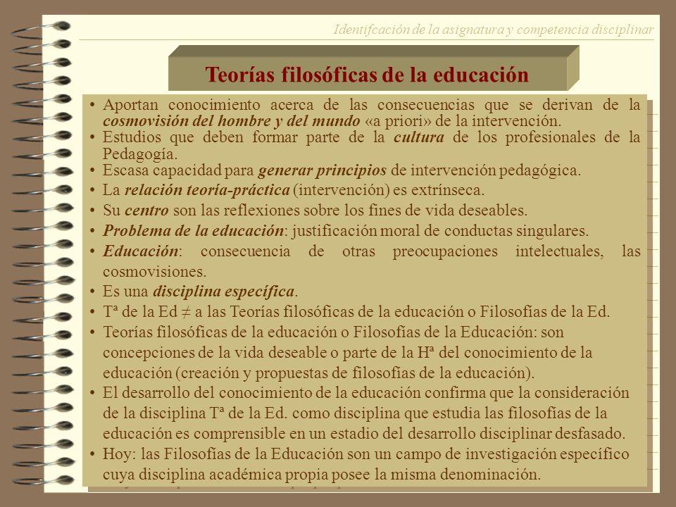Teorías filosóficas de la educación