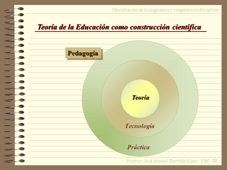 Teoría de la Educación como construcción científica