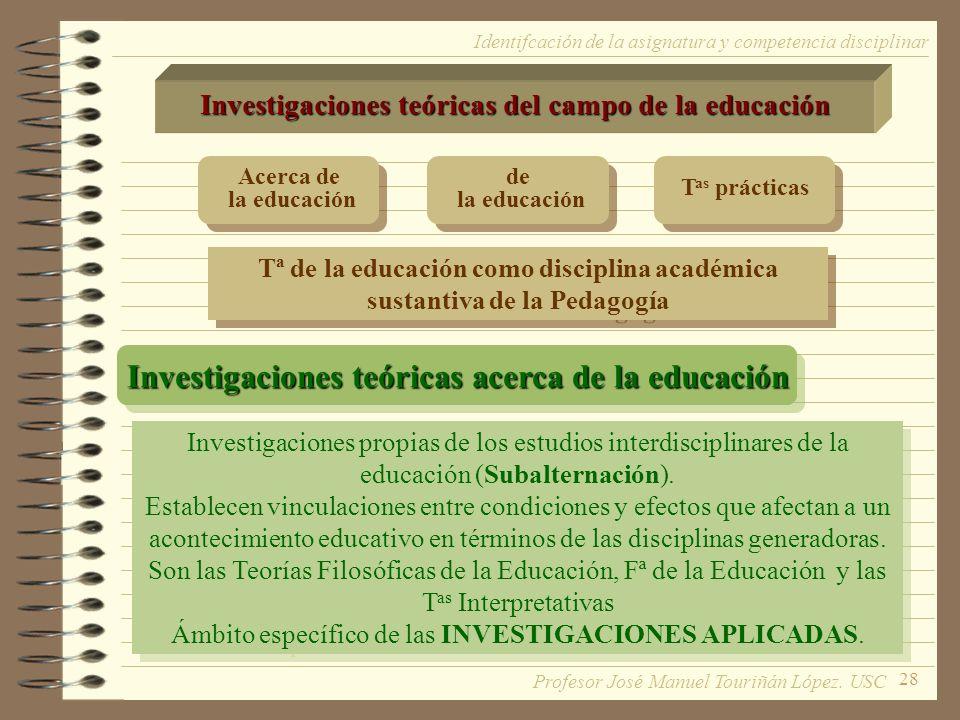 Investigaciones teóricas acerca de la educación