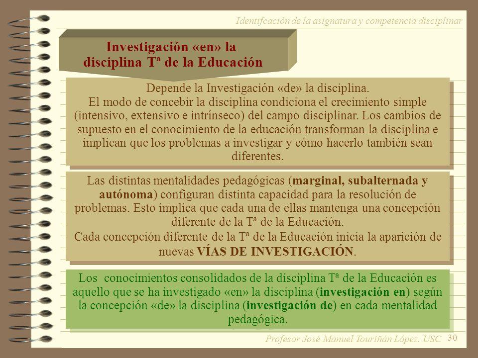disciplina Tª de la Educación