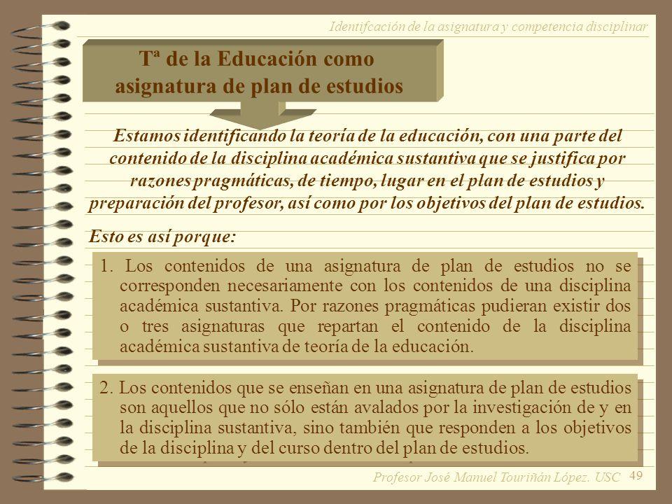 asignatura de plan de estudios