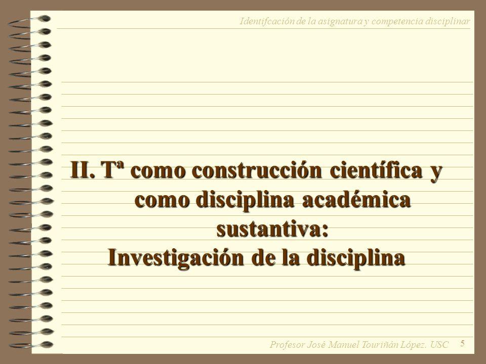 Investigación de la disciplina