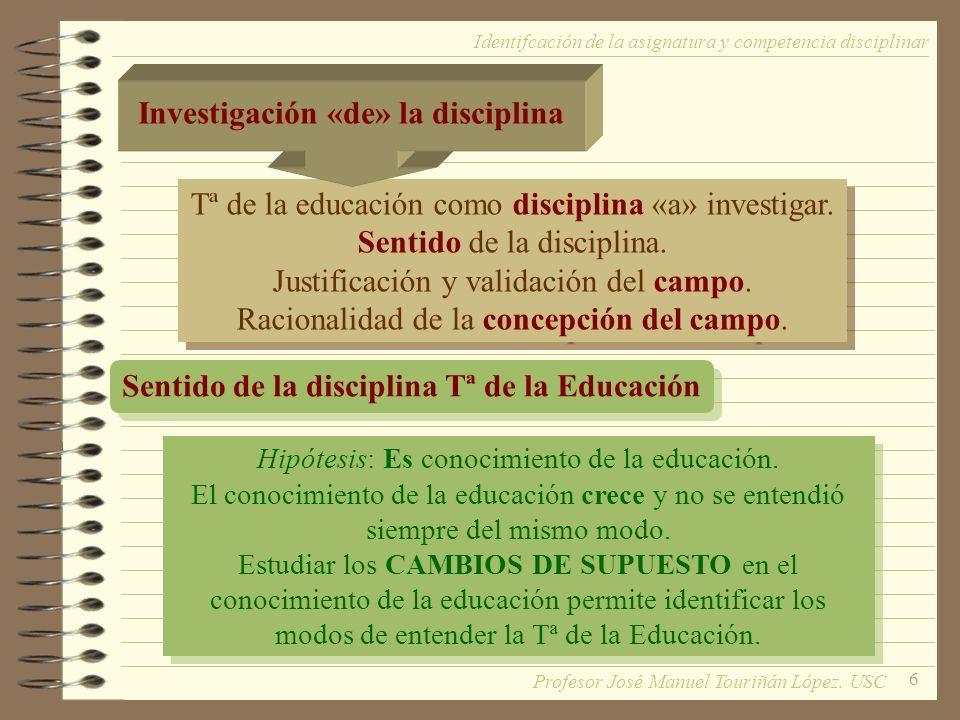 Investigación «de» la disciplina