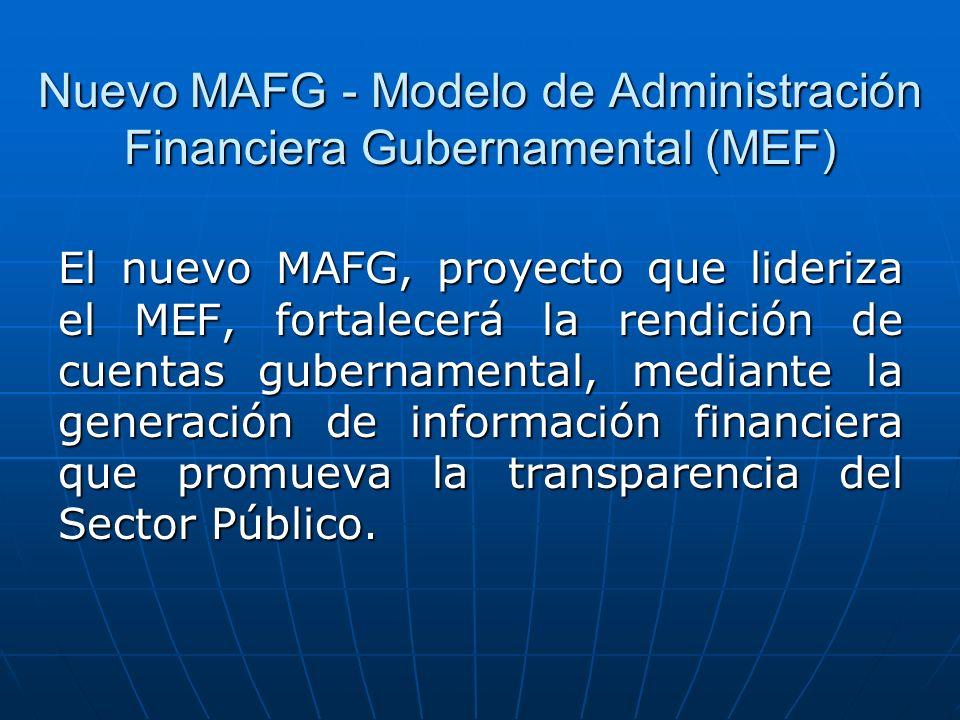 Nuevo MAFG - Modelo de Administración Financiera Gubernamental (MEF)