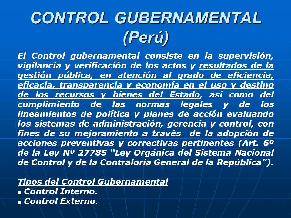 CONTROL GUBERNAMENTAL (Perú)