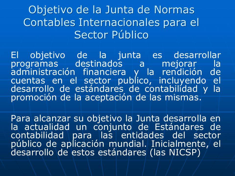 Objetivo de la Junta de Normas Contables Internacionales para el Sector Público