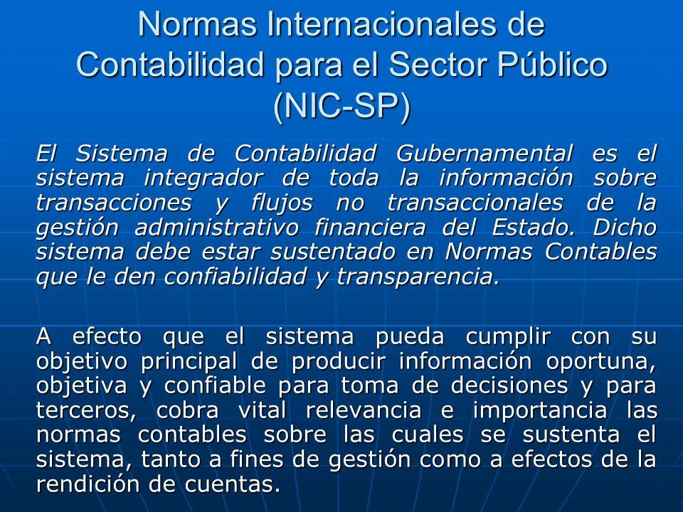 Normas Internacionales de Contabilidad para el Sector Público (NIC-SP)