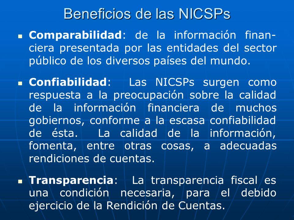Beneficios de las NICSPs