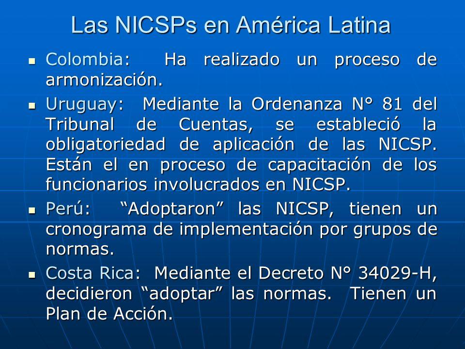 Las NICSPs en América Latina