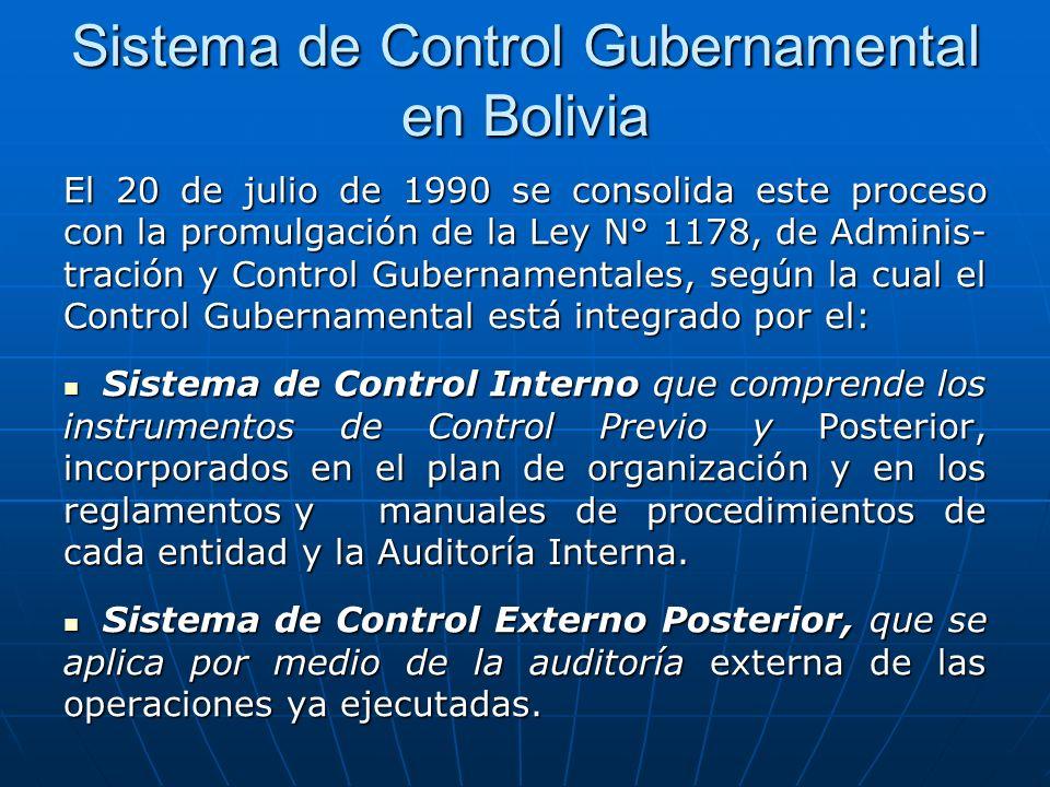 Sistema de Control Gubernamental en Bolivia