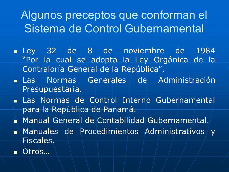 Algunos preceptos que conforman el Sistema de Control Gubernamental