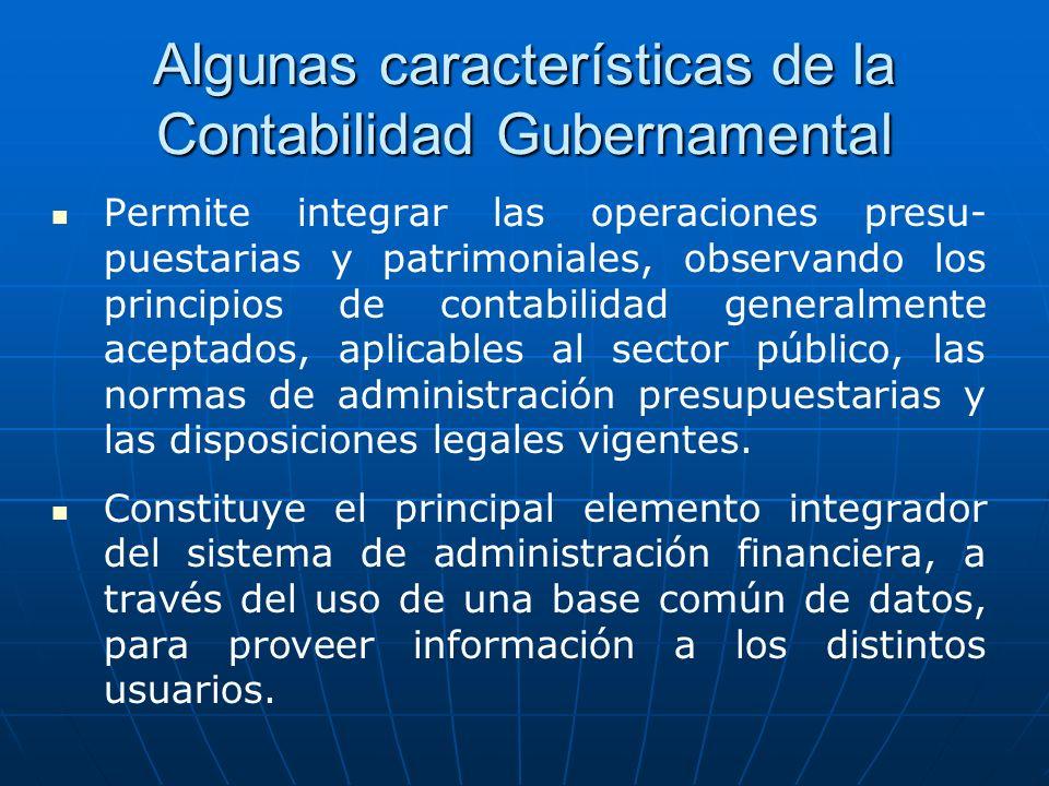 Algunas características de la Contabilidad Gubernamental