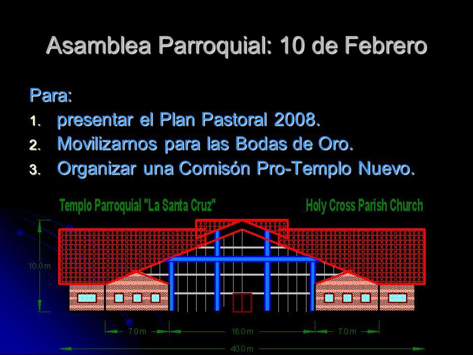 Asamblea Parroquial: 10 de Febrero