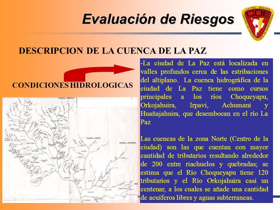 Evaluación de Riesgos DESCRIPCION DE LA CUENCA DE LA PAZ
