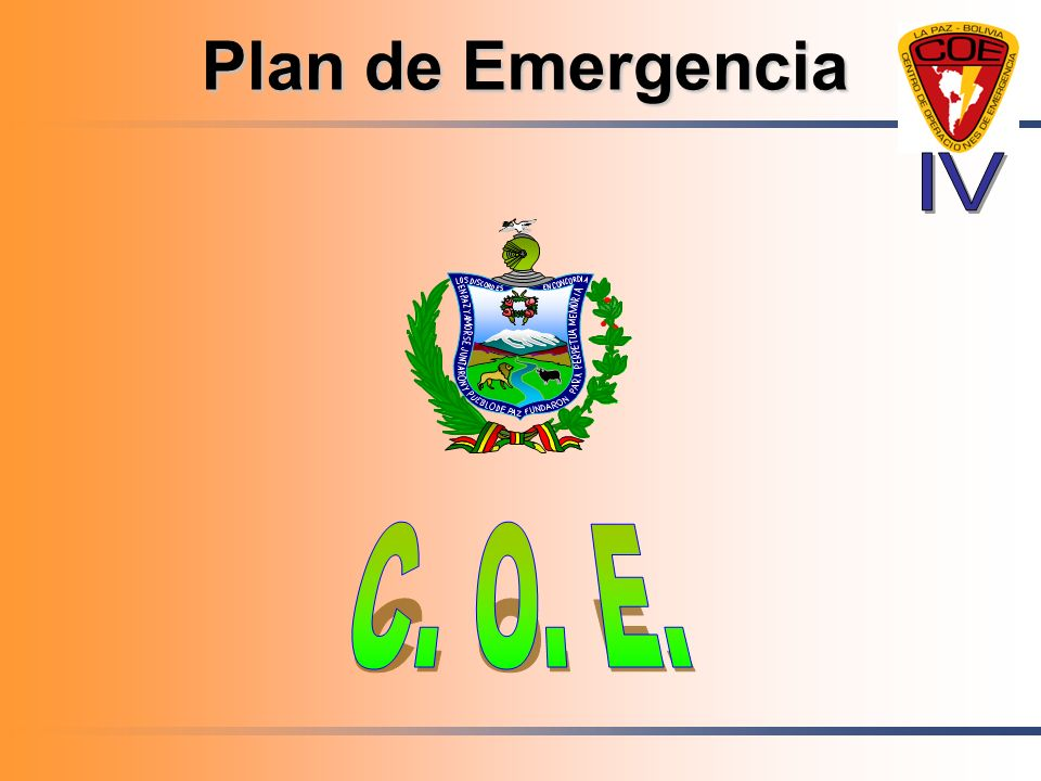 Plan de Emergencia IV C. O. E.