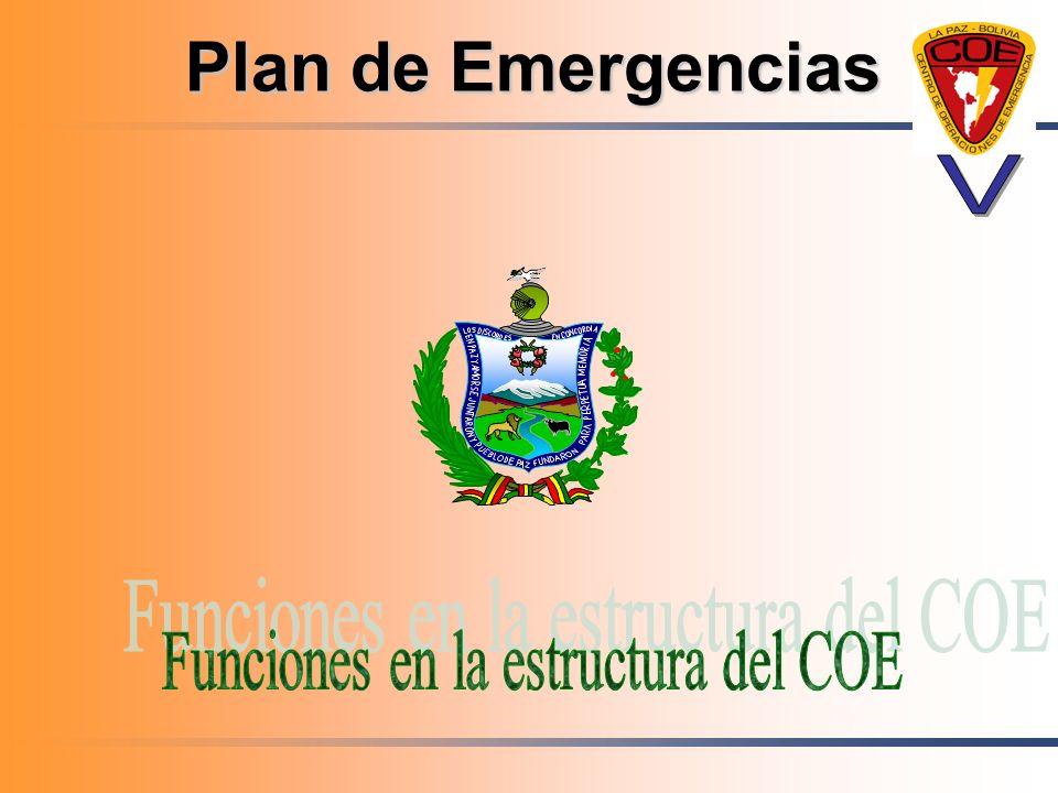 Funciones en la estructura del COE