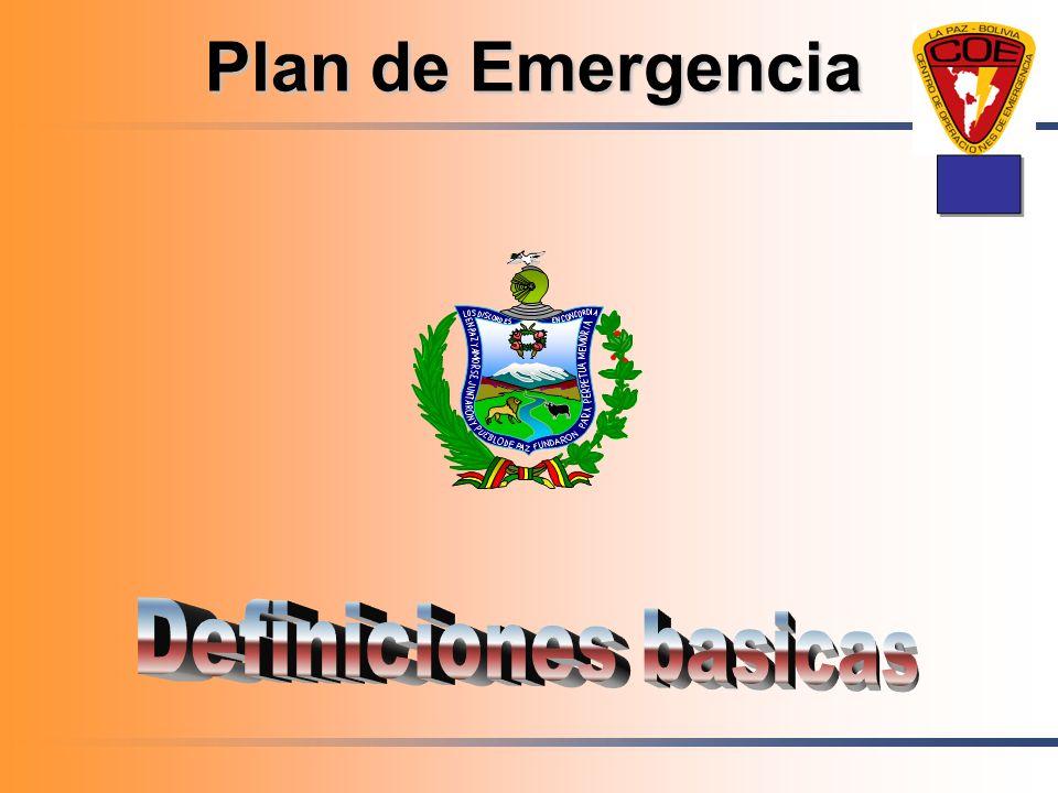 Plan de Emergencia I Definiciones basicas