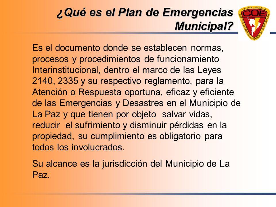 ¿Qué es el Plan de Emergencias Municipal