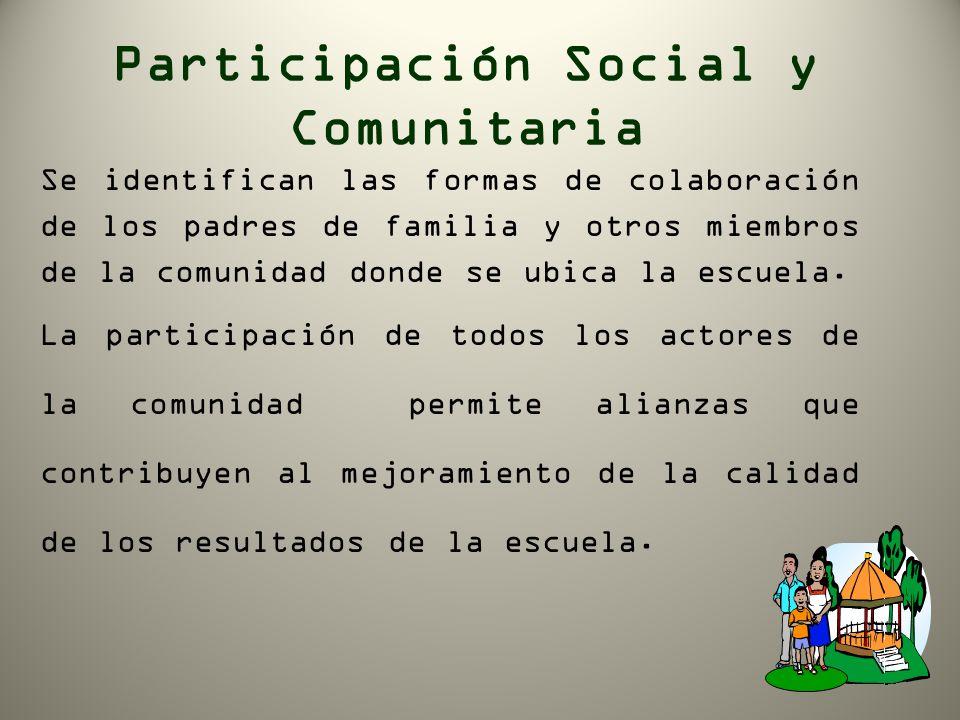 Participación Social y Comunitaria