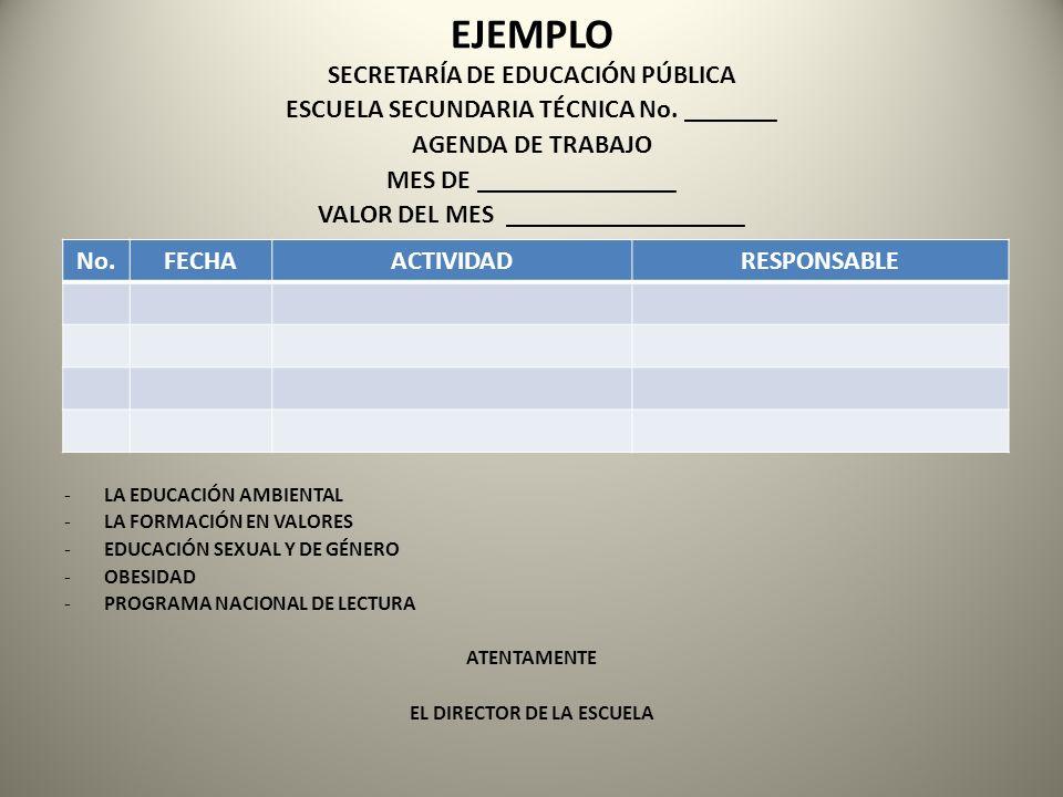 EJEMPLO SECRETARÍA DE EDUCACIÓN PÚBLICA