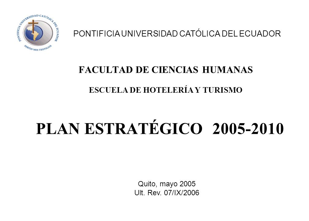 FACULTAD DE CIENCIAS HUMANAS ESCUELA DE HOTELERÍA Y TURISMO