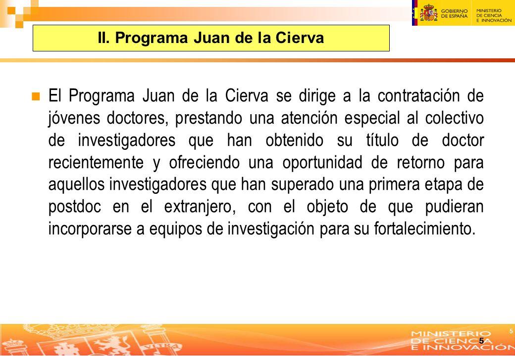 II. Programa Juan de la Cierva