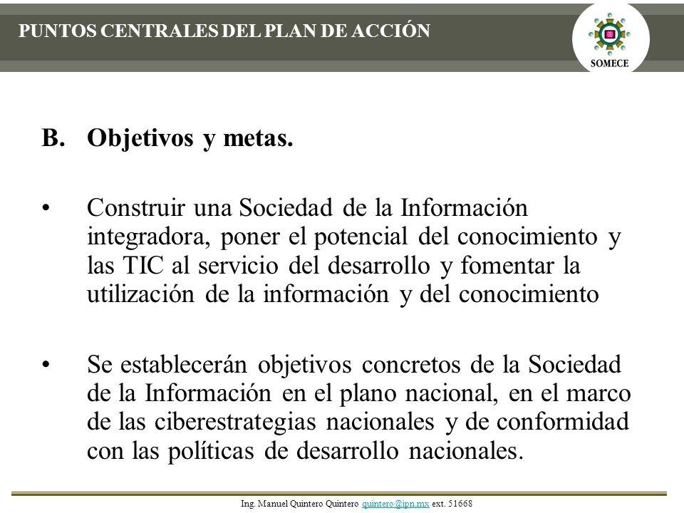 PUNTOS CENTRALES DEL PLAN DE ACCIÓN