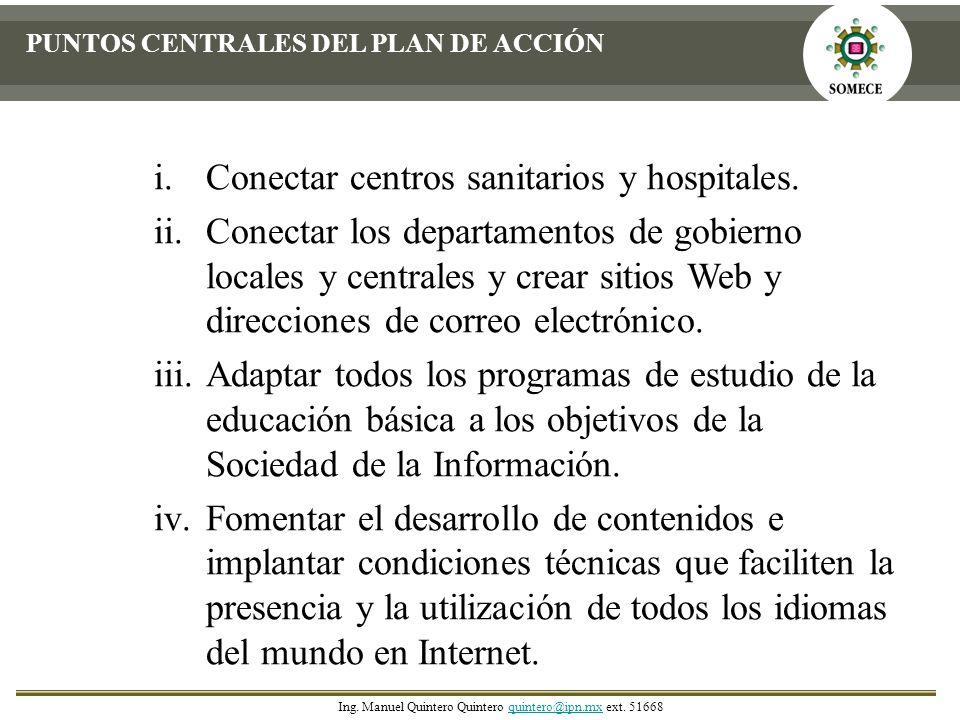 Conectar centros sanitarios y hospitales.