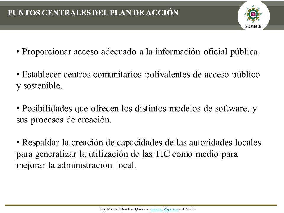 Proporcionar acceso adecuado a la información oficial pública.