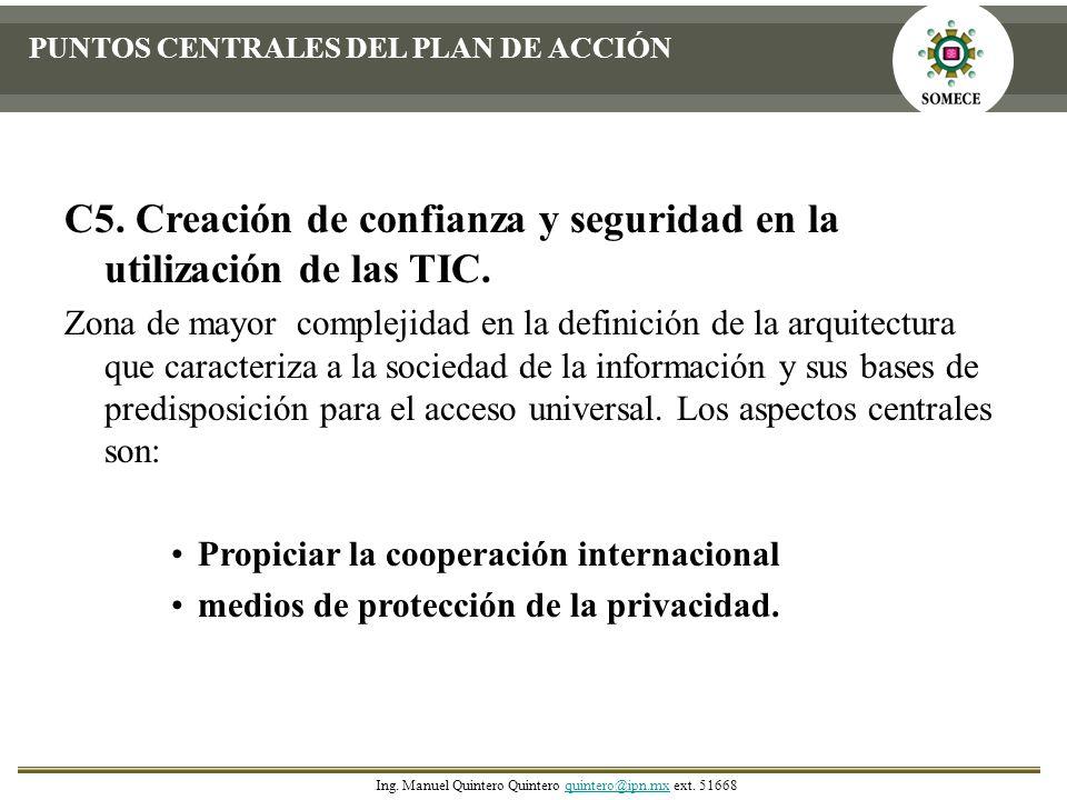 C5. Creación de confianza y seguridad en la utilización de las TIC.