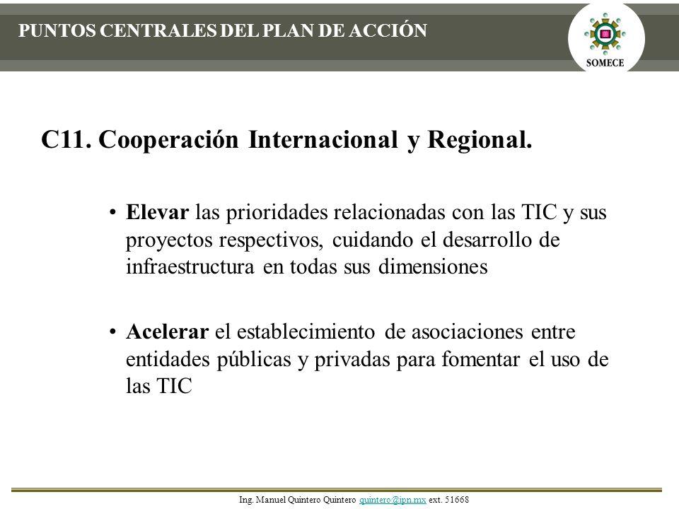 C11. Cooperación Internacional y Regional.