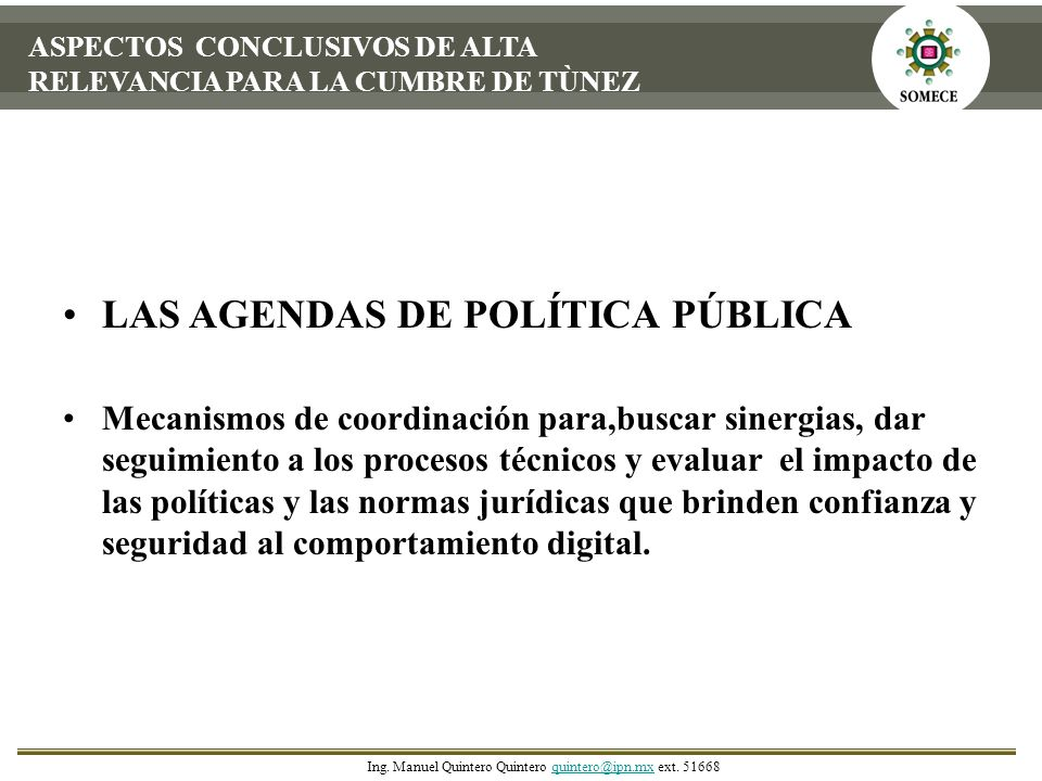 LAS AGENDAS DE POLÍTICA PÚBLICA