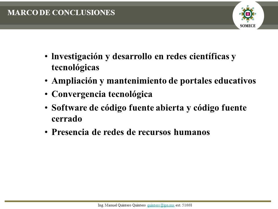 lnvestigación y desarrollo en redes científicas y tecnológicas